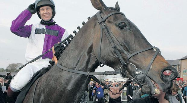 Richard Johnson will be hoping to partner Planet Of Sound to victory in the big one at Kempton today. Photo: GETTY IMAGES