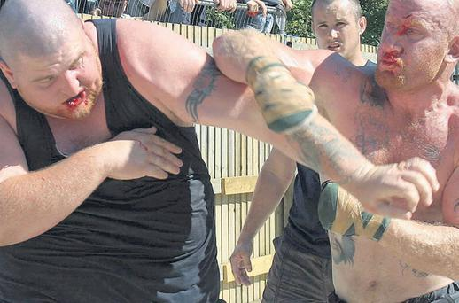 Blood sports: A bare-knuckle fight between Paul Joyce and brother of the author Michael Quinn McDonagh