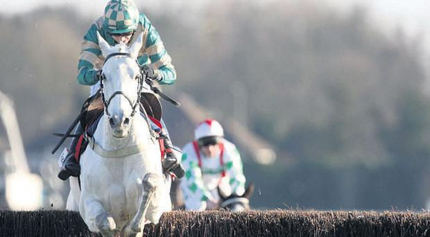 Nacarat and Paddy Brennan on their way to victory at Kempton