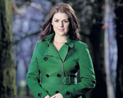 HEALTH ANGUISH: Glamorous Sile Seoige has spent the last six months battling thyroid cancer, including a week in an isolation ward in the Blackrock Clinic where she was dosed with radioactive iodine. Photo: David Conachy
