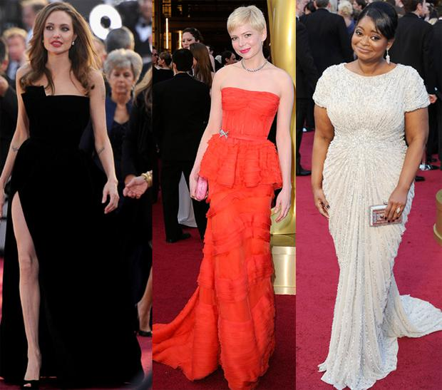 From left: Angelina Jolie, Michelle Williams and Octavia Spencer