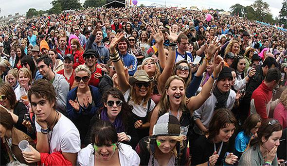 Fans at Electric Picnic in 2008
