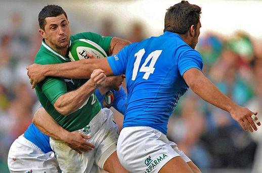 <p> <b>ROB KEARNEY 8/10</b> </p> <p> Another classy outing. Not as dominant in the air as usual but very dangerous running ball back, and playing off their full-back should be a concerted attacking focus for Ireland. </p>