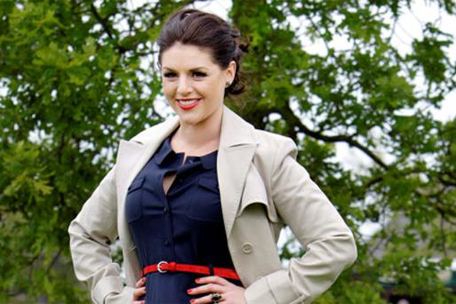 TV Presenter Sile Seoige enjoying The Guinness Gold Cup Day at Punchestown