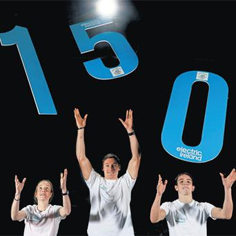 Fionnuala Britton, David Gillick and Michael Conlan begin the 150-day countdown to the start of the Olympic Games