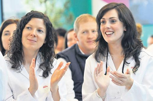 Eli Lilly staff react to yesterday's announcement that the bio-pharmaceutical firm is to expand its plant in Kinsale, Co Cork