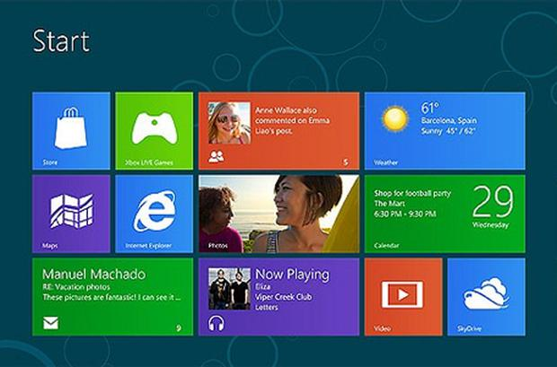 Windows 8 borrows design elements from the Windows Mobile operating system