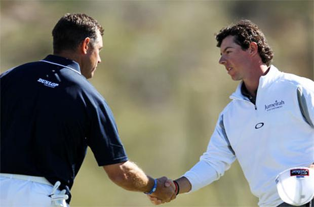 Lee Westwood and Rory McIlroy. Photo: Getty Images