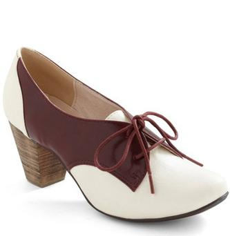 Soft Serve Heel in Burgundy $59.99 modcloth.com