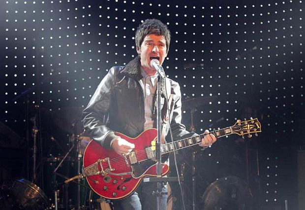 Noel Gallagher's High Flying Birds on stage during the 2012 NME Awards at the O2 Academy Brixton.