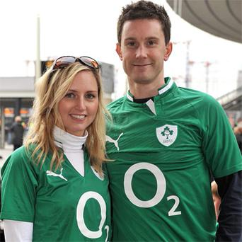 Gillian Curran and Alan Skehill got engaged in Paris before the match yesterday