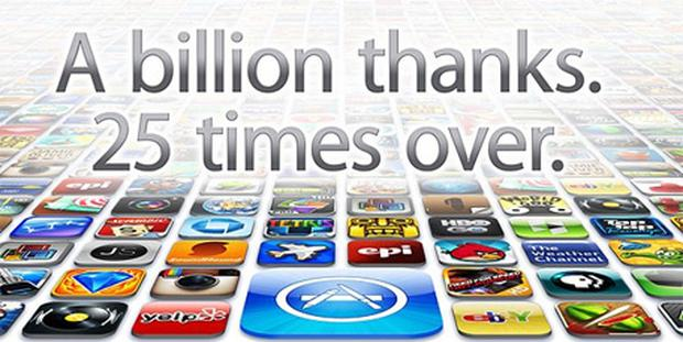 Apple users have downloaded 25 billion apps since the App Store opened in 2008