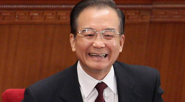 Chinese premier Wen Jiabao said the government's target for economic growth in 2012 was 7.5pc. Photo: Getty Images