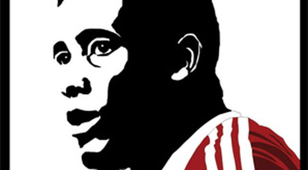 <p> <b>John Barnes - Goal Digger</b> </p> <p> '<i>Originally I wanted to try and work Barnes nickname 'Digger' into the main illustration itself. However, after various illustrations of JCBs (John Charles Barnes) and caterpillar tracks churning up the touchline I felt that a minimal approach would probably be better. </i> </p> <p> <i>'So instead I opted for a play on words as part of the title and a traditional portrait of the man himself.' </i> </p>
