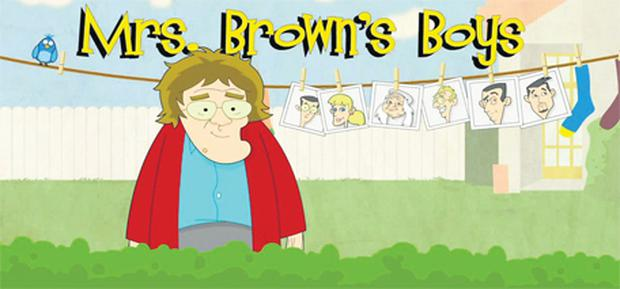 The cartoon version of 'Mrs Brown's Boys', part of which features in the TV series' opening credits, will be broadcast to audiences in Brazil and Japan