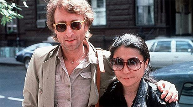 John Lennon and his wife, Yoko Ono in August 1980