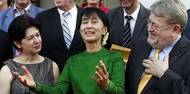 Myanmar opposition leader Aung San Suu Kyi. Photo: AP