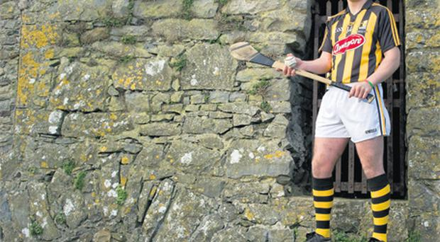 Kilkenny's Eoin Larkin was at Grannagh Castle, Waterford, yesterday to promote Sunday's league clash against the Deise at Walsh Park