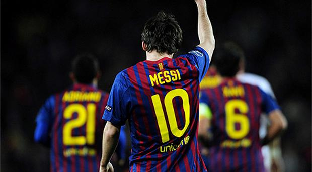 Lionel Messi became the first player to score five goals in a Champions League match
