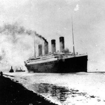 The Titanic departs Southampton for her maiden Atlantic Ocean voyage to New York. Photo: AP