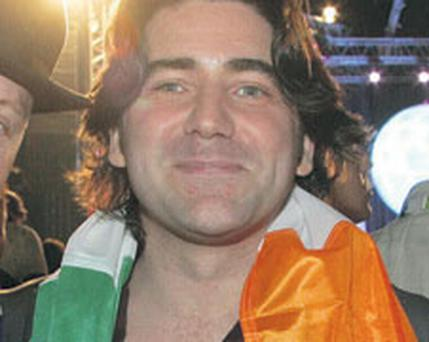 FLYING THE FLAG: Brian Kennedy has often sung 'Ireland's Call' before rugby internationals