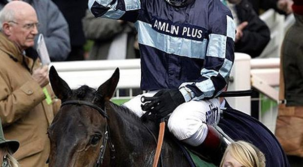<p> <b>Day one </b> </p> <p> Jockey Richard Johnson on board <b>Captain Chris</b> winner of the Irish Independent Arkle Challenge Trophy Steeple Chase </p>
