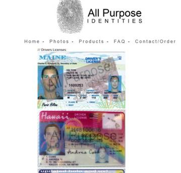 Fake identifications available to purchase
