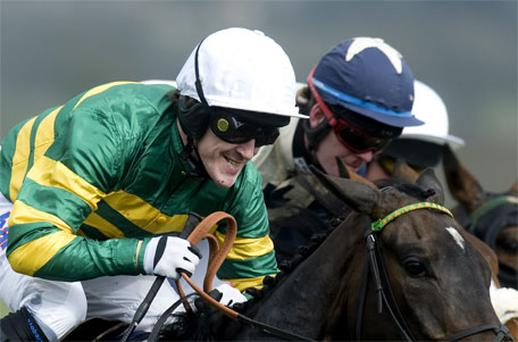 Tony McCoy in action on the first day of Cheltenham Festival. Photo: Getty Images
