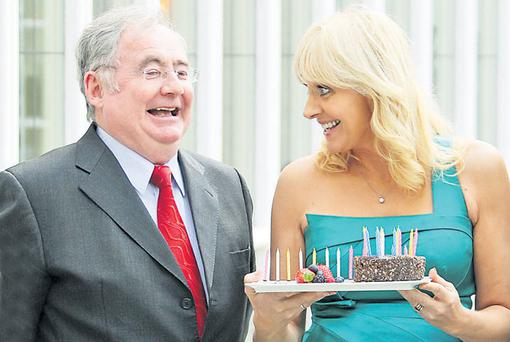 Minister Pat Rabbitte, with RTE's Miriam O'Callaghan. Mr Rabbitte recognises the importance of a strong public-service broadcaster.