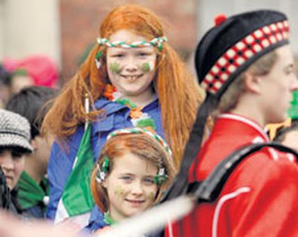sisters Aoife and Ciara Byrne from Clonee at the Dublin parade