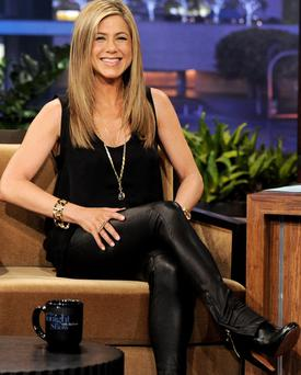 Jennifer Aniston on the Tonight Show With Jay Leno at NBC Studios on February 24, 2012