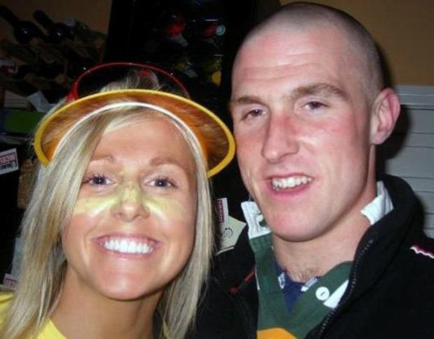 RTE sports presenter Jacqui Hurley and her brother Sean Hurley who was tragically killed in a car accident in Cork.