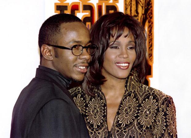 Bobby Brown with Whitney Houston in 1994. Photo: Getty Images