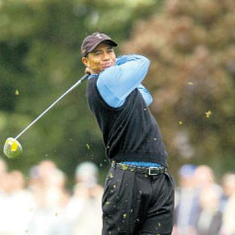 Tiger Woods in action for the US during the 2006 Ryder Cup at the prestigious K Club in Kildare