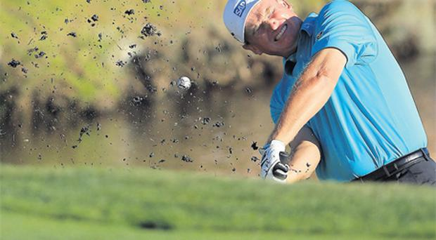 Ernie Els feels the pain as he just fails to make the Masters tournament by finishing in the top three of the Arnold Palmer Invitational