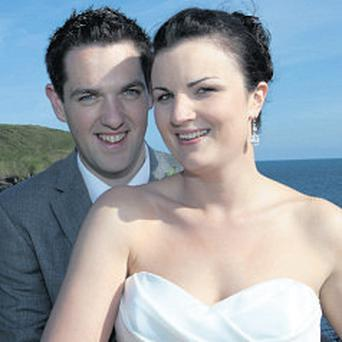 Pat Enright and Mary Walsh: married last year