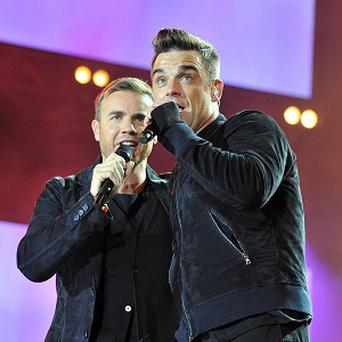 Take That - reunited with Robbie Williams