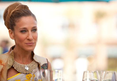 Sarah Jessica Parker as Carrie Bradshaw in Sex and the City 2.