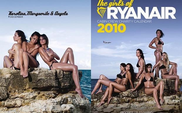 Ryanair's annual charity calendar should 'motivate' cabin crew to lose weight, according to the a