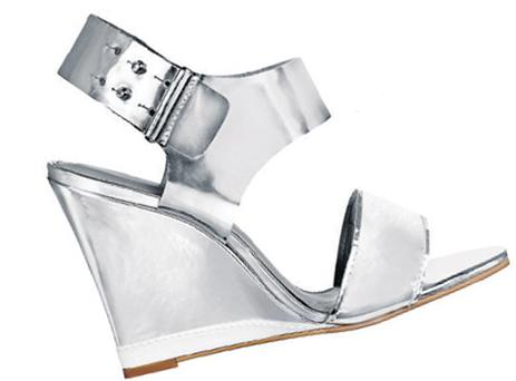 'Honey' silver wedge sandal, ¤180, KG Kurt Geiger at Brown Thomas