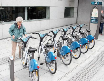 The number of cyclists in Dublin has grown 40pc since 2009, and it is hoped that similar rises will be shown in the regions. Photo: Collins