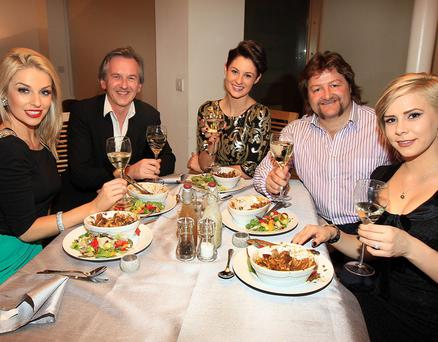 Tv3 Celebrity Come Dine with me......................Pippa O Connor,Michael O Doherty,Madeline Mulqueen,Shane Byrne,Holly SweeneyPicture :Brian McEvoy/Tv3