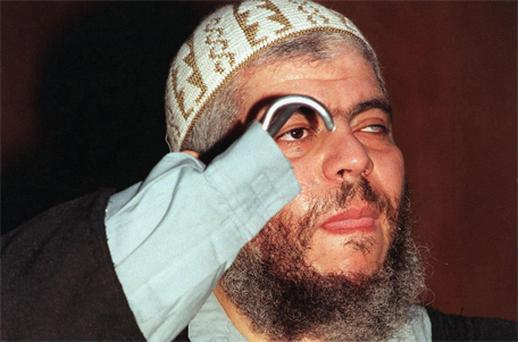 Islamic preacher Abu Hamza. Photo: PA