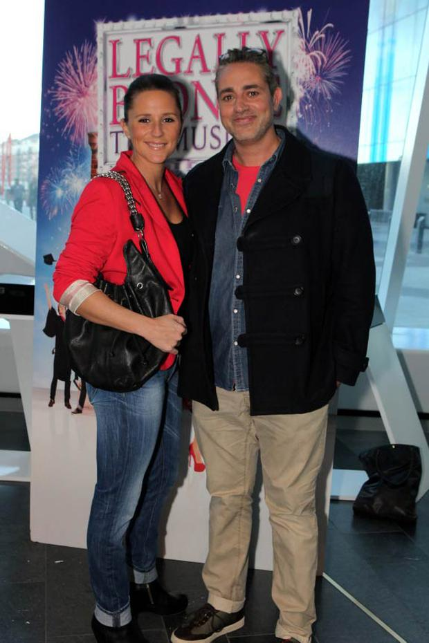 Baz Ashmawy and Tanja Evans at the opening night of Legally Blonde at the Bord Gais Energy Theatre, Dublin