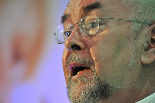 provision 100412Min for Education Ruairi Quinn at the ASTI conference in Cork yest.Pic Michael Mac Sweeney/Provision