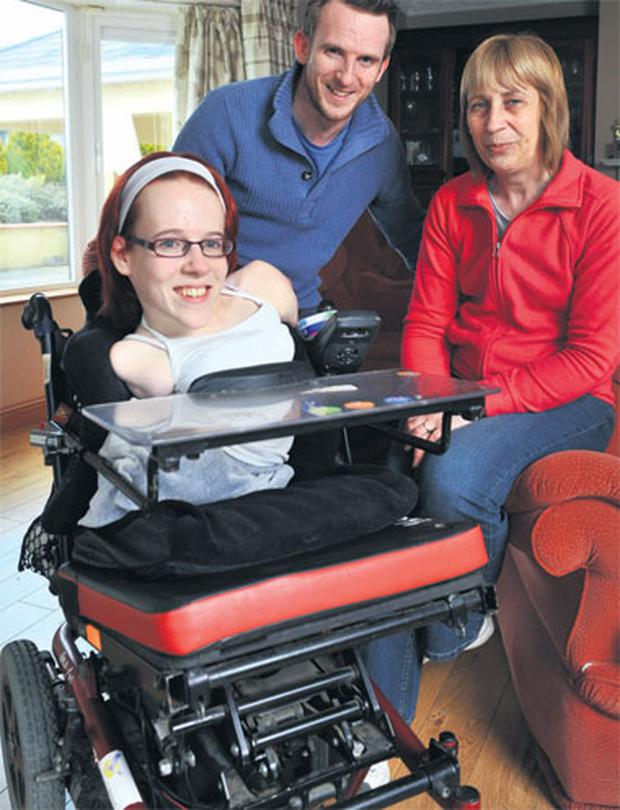 Joanne O'Riordan with brother Steven and mum Ann in Cork