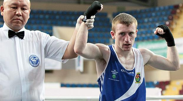 Paddy Barnes defeated Stefan Caslarov of Romania on a scoreline of 17-9 which qualifies him for the 2012 London Olympic Games