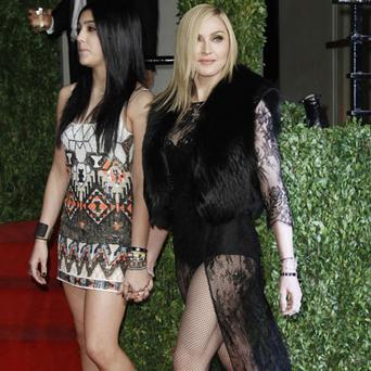 Madonna and Lourdes at the Vanity Fair Oscars party. Photo: Reuters