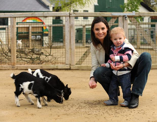 Alison Canavan with son James at Dublin Zoo in 2012