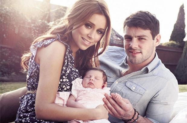 Saturdays' singer Una Healy with daughter Aoife Belle Foden and partner Ben Foden